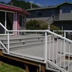 spacious two-level deck