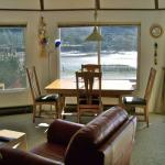 Yachats Bay through large picture windows